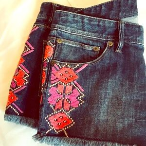 Embroidered Festival Tribal Roxy Shorts